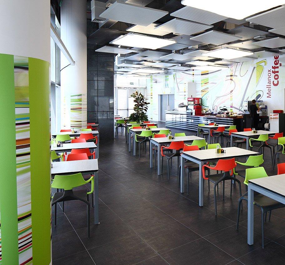 תכנון ופיתוח של חדר האוכל במלאנוקס
