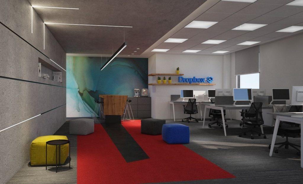 עיצוב משרדי הייטק לדרופבוקס