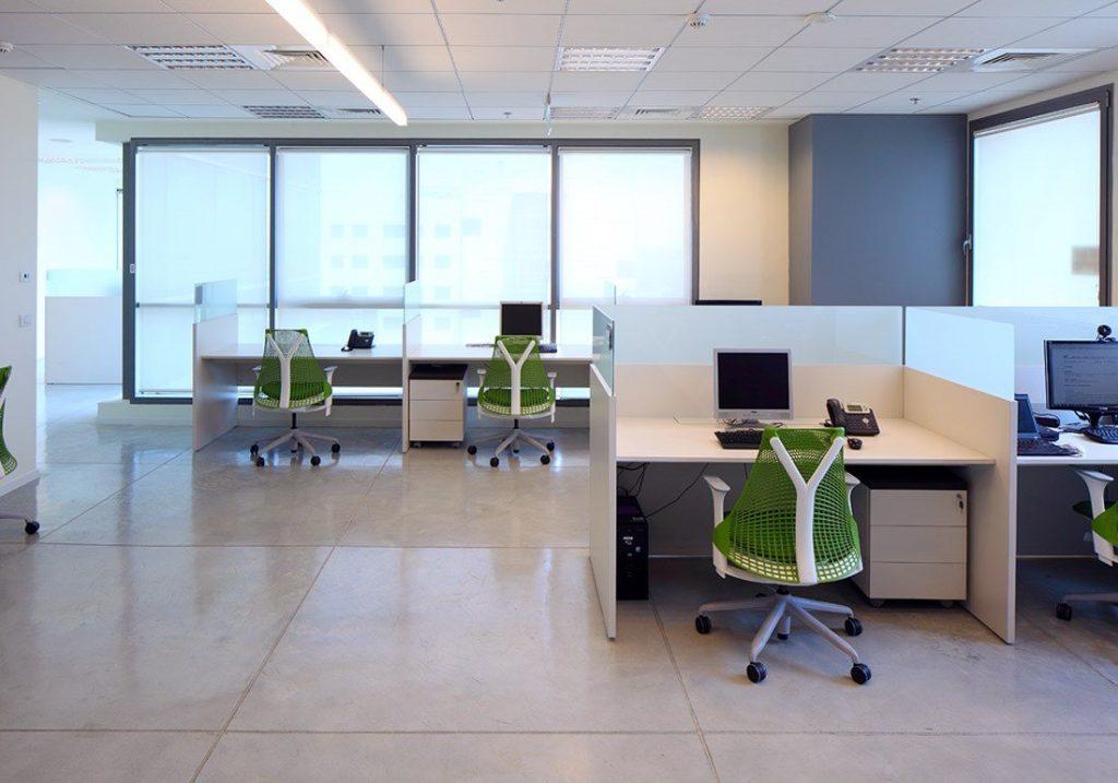 עיצוב משרד בסגנון open space