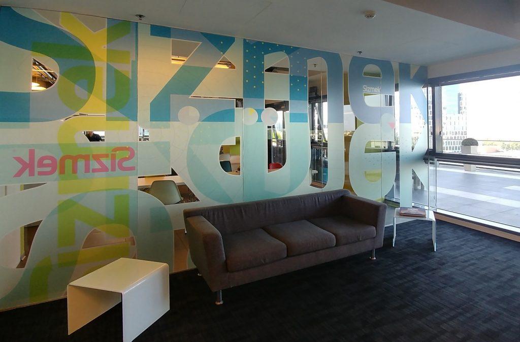עיצוב לובי כניסה בחברת סיזמק הרצליה