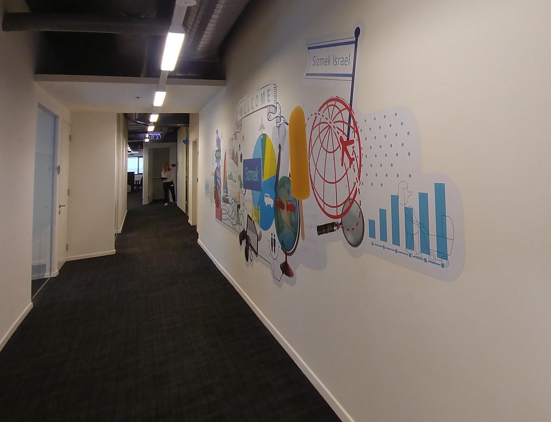 עיצוב ותכנון מסדרון לחברת סיזמק
