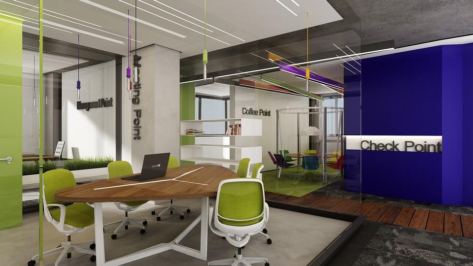 עיצוב משרד בסגנון הייטק לצק פוינט