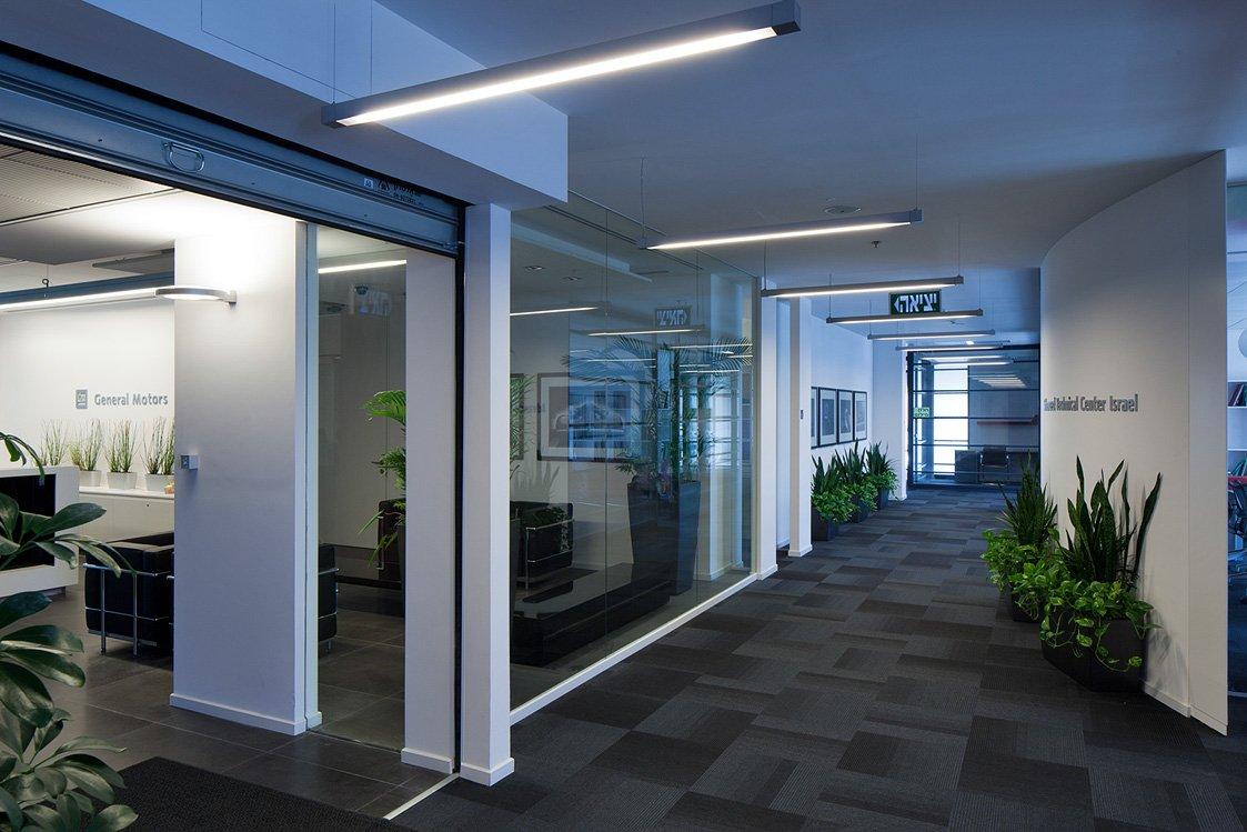 עיצוב משרדים בסגנון הייטק לגנרל מוטורס