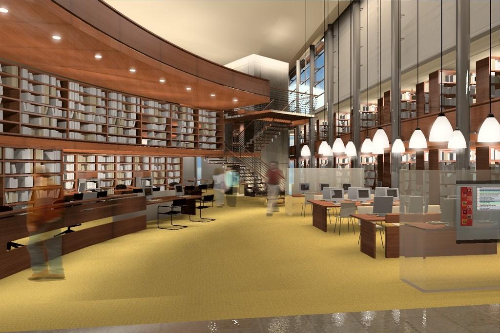 עיצוב ותכנון ספריית מכללת יזראל