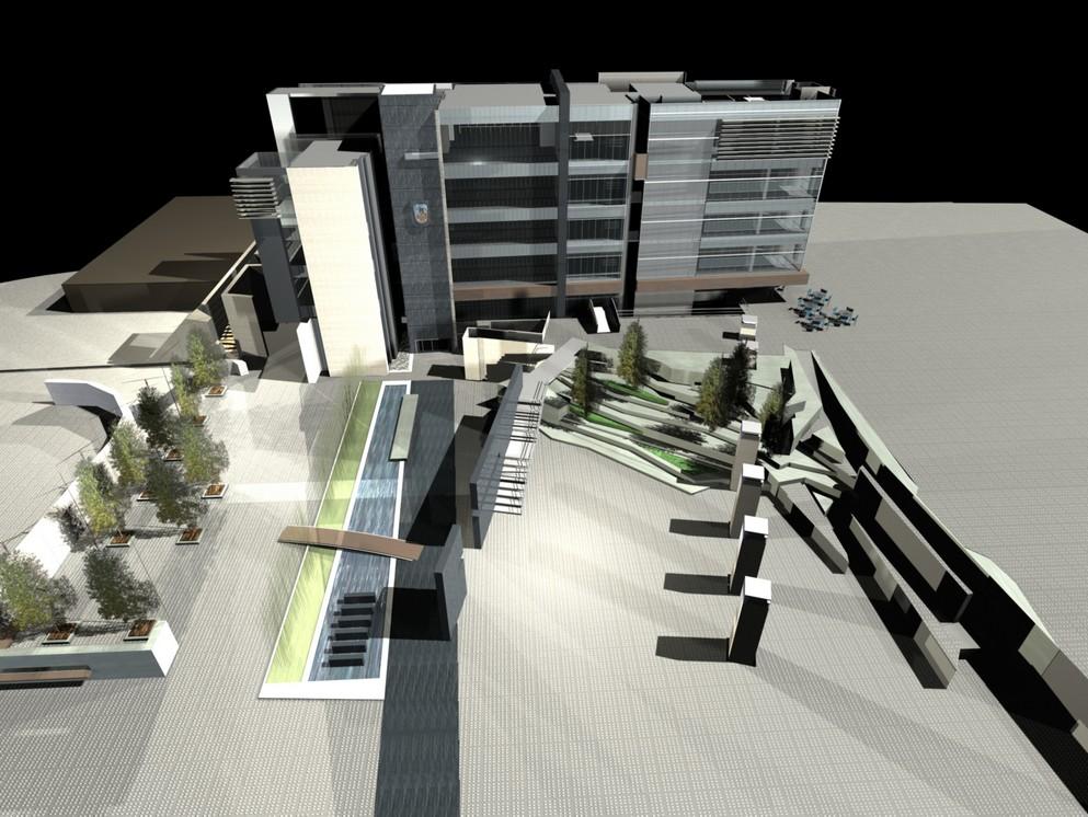 תכנון אדריכלי למרכז העיר בקריית שמונה