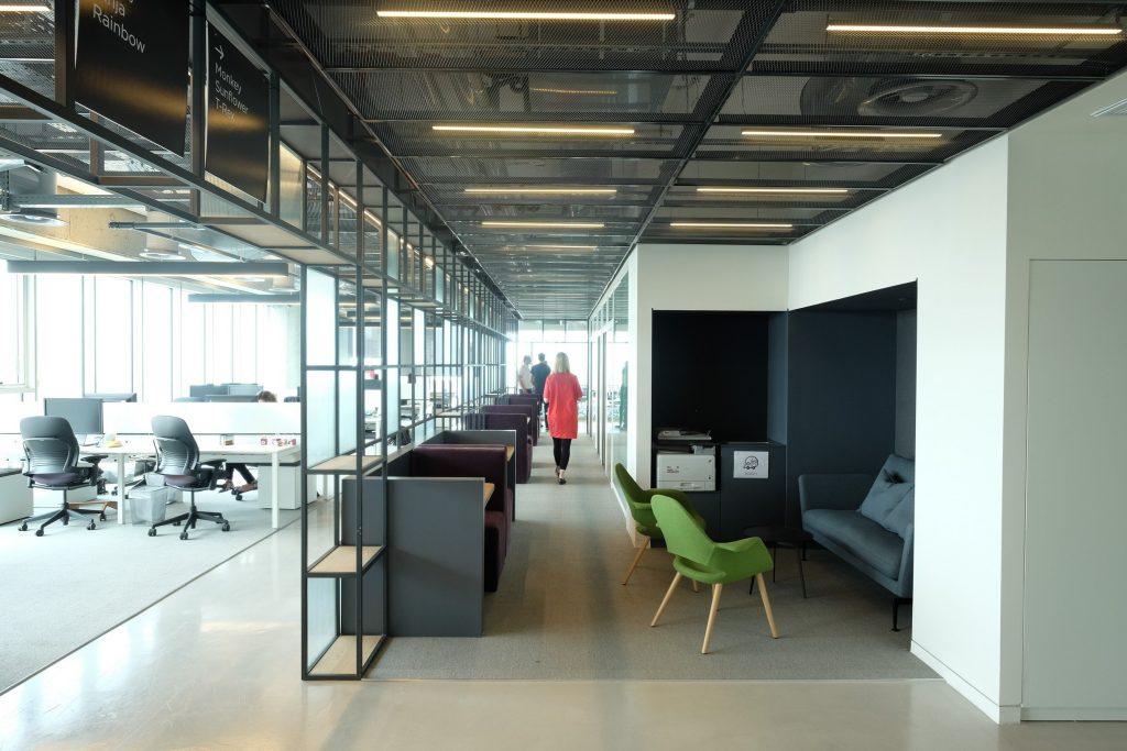 עיצוב משרדים open space לגוגל ו - וויז