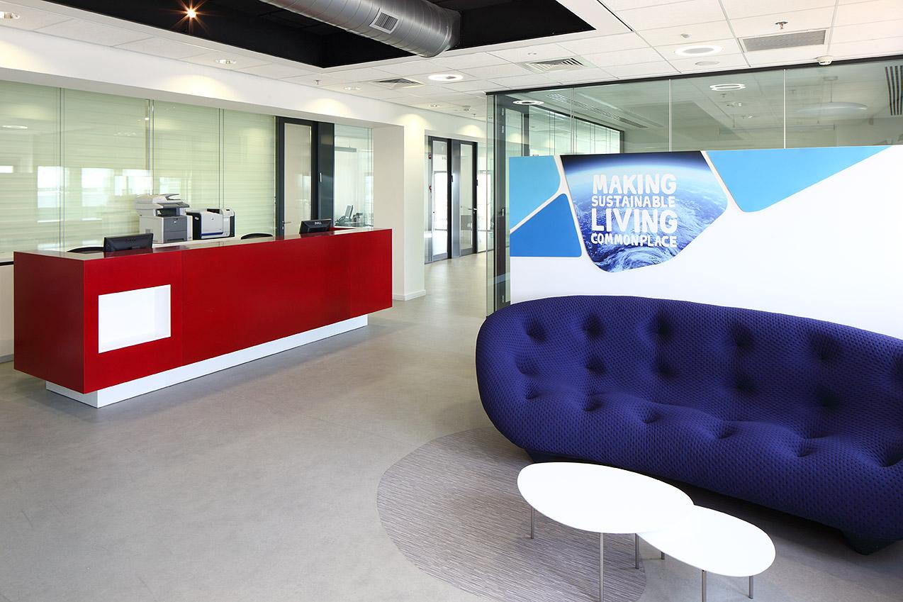 תכנון משרדים של חברת יוניליבר