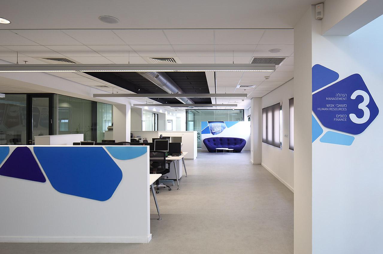 עיצוב משרדים של יוניליבר בסגנון open space