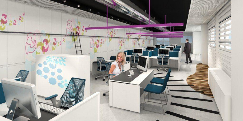 עיצוב משרדים בסגנון הייטק