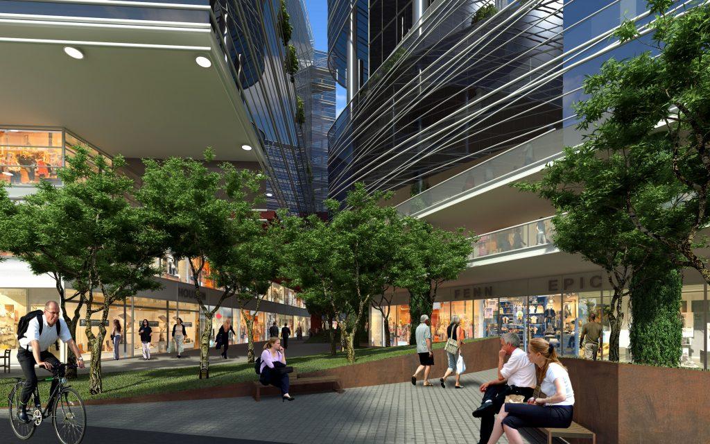 תכנון עירוני ואזור מסחרי