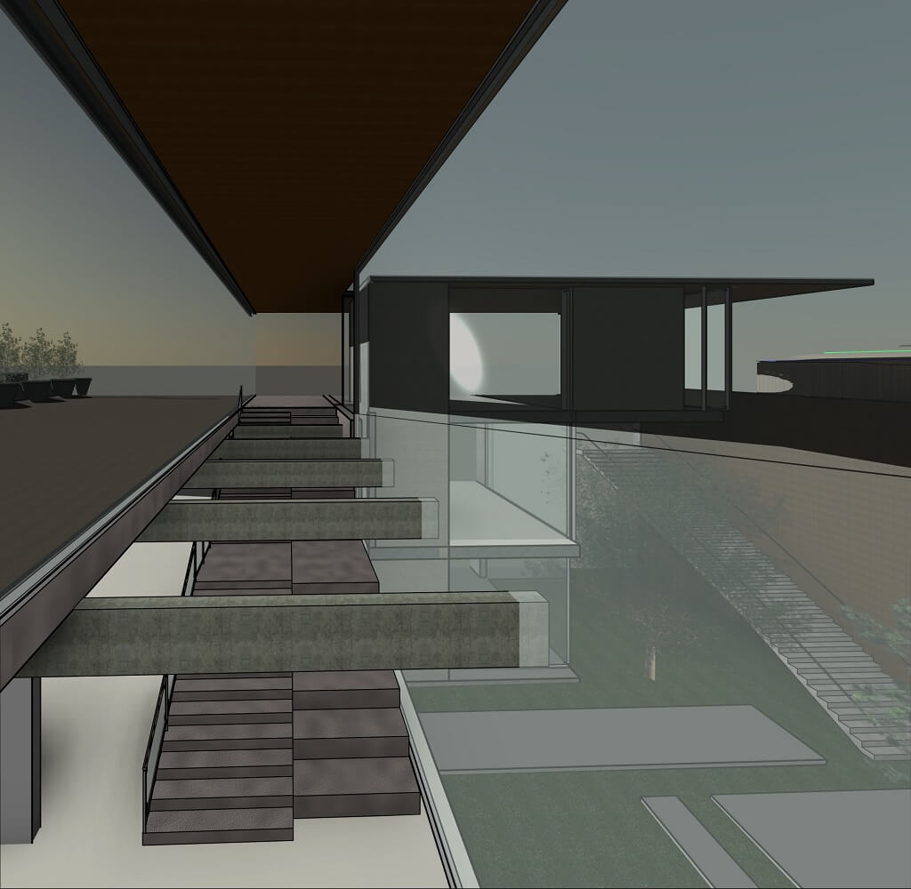 RZ-3D-new-3D-View-מבט-פנים-לכוון-מערב-בשקיעה
